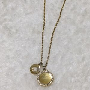 Kate Spade double pendant necklace